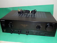 SONY TA-F211 AMP Amplifier Stereo Integrated Hi-Fi BLACK Vintage Legato Linear