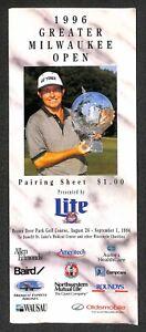 "Tiger Woods ""PGA Golf Pro Debut"" 1996 Greater Milwaukee Open GMO pairing sheet"