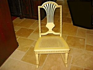 Vintage Childs Chic Shabby French Provincial Cane Rocking Chair