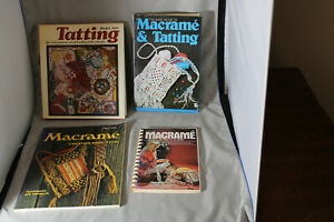 Lot of Four (4) Tatting and Macrame Vintage Books