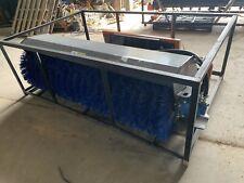 72 Inch Skid Steer Broom Tmg Angle Sweeper Metal Poly Bristles New Universal