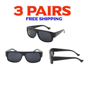 3 Pack Bulk Lot Wholesale Gangster Sunglasses EAZY E Super Dark Old School Locs