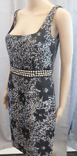 JS COLLECTIONS ✮ UK 10 US 8 ✮ BLACK AND GREY LACE AND STUD WAIST PARTY DRESS