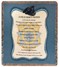 "Throws - ""A Policemans Prayer"" Tapestry Throw Blanket - Police Memorabilia"