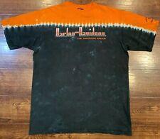 "Vintage Harley Davidson ""The American Dream"" Short Sleeve Tye Dye Shirt XXL 2XL"