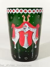 Historismus WAPPENBECHER ° Wappen Glas um 1880 ° Egermann Haida (Z)