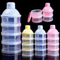 4 LAYERS INFANT BABY FEEDING MILK POWDER DISPENSER BOTTLE STORAGE CONTAINER FUN