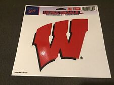 "WISCONSIN BADGERS WINCRAFT ULTRA DECAL TEAM LOGO 5""X6"" CLEAR WINDOW FILM"