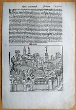 Original Inkunabel-Blatt Schedel Mantova Italien 1493#