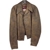 Vintage Battalion Men's 42 Brown Canadian Leather Jacket VTG