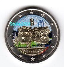 2 EURO COMMEMORATIVO ITALIA 2016 Tito Maccio Plauto COLORATO