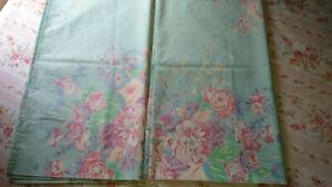 Vintage Ralph Lauren Pompano King Pillowcases-Gorgeous 100% Cotton-Green Purple