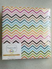 Becky Higgins Project Life Multi-Color Colorful Chevron 6 x 8 Photo Binder Album