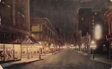 St Paul Minnesota~Sixth Street Night Lights~Mannequin Window Displays~Cafe~1912
