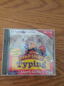 knowledge adventure jump start typing user's guide cd-rom jewel case no box new