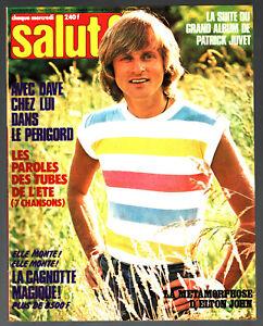 SALUT n°63 # 1978 # DAVE - ELTON JOHN - AVEC POSTER PATRICK JUVET