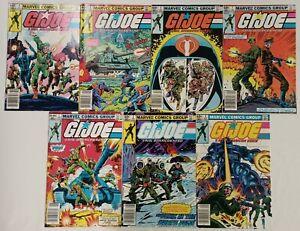 **G.I.JOE: A REAL AMERICAN HERO #1-7 RUN LOT OF 7**(1982, MARVEL)**ALL NEWSSTAND