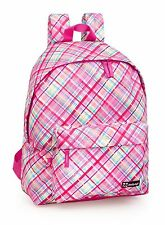 Backpack Rucksack Pink White Trendy Kids School Travel Ladies Girls Bag