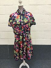 Lindy Bop Caru Navy Pink Floral Tea Dress Size UK 20 BNWT