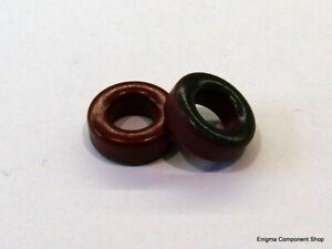 2/5/10 x T68-2 Red Ferrite Toroid. MICROMETALS. UK Seller - Fast Dispatch.