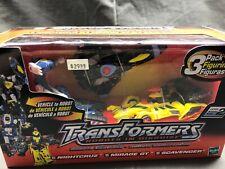 Transformers Mirage GT Nightcruz Scavenger 3 Pack SEALED 2001 Robots Rare