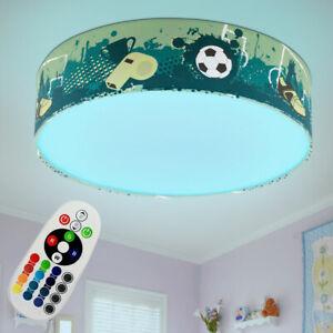 RGB LED Kinder Decken Lampe FERNBEDIENUNG Jungen Fußball Design Leuchte dimmbar