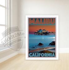 Art Deco Travel Posters Lovely Vintage Retro Holiday Tourism *Unique* Malibu