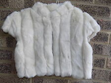 VINTAGE STYLE FAUX FUR CROPPED JACKET SHRUG BOLERO WEDDING PROM PARTY