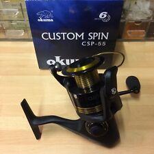 Okuma Custom 55 Spinning Reel - 5500 Pier, Bass, Carp, Pike, Lure, (6 Bearings)