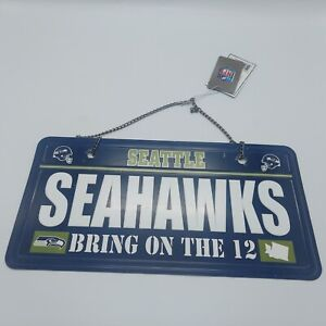 Seattle Seahawks NFL Bring on the 12 Licenese Plate Wall Art Forevr Collectibles