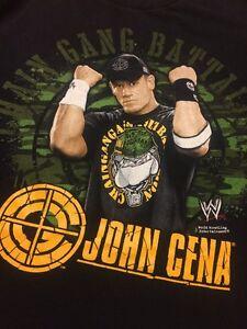 John Cena WWE Chain Gang Battalion 2007  Size Large T Shirt Black B7-12