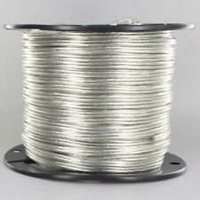 SILVER ~ Lamp Cord ~ 2 Wire ~ 18 gauge { 250 Ft. Roll} for Parts & Repair by PLD