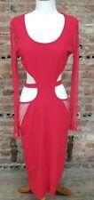 NWT Ladies BANJUL Cutout Red Club Dress Size L NEW BOLD