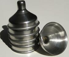 Stainless Steel Mini Funnels Steampunk Jewelry Bottles  6 Pack NEW Free Ship