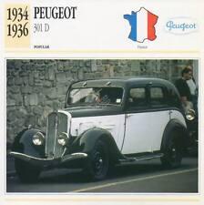 1934-1936 PEUGEOT 301-D Classic Car Photograph / Information Maxi Card