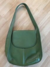 Vintage COACH 9029 Ergo Hobo Green Saddle Leather Flap Shoulder Bag