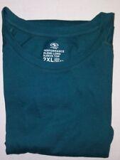 Athletic Works Men Shirt Performance Blend L/S Top 2 XL Green NWOT