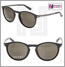 32d3463022a GUCCI 1110 Clubmaster Ruthenium Black Sunglasses GG1110S Unisex AUTHENTIC