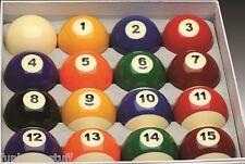 New Deluxe Billiard Pool Table Complete Ball Set with Cue ball and 8 Ball
