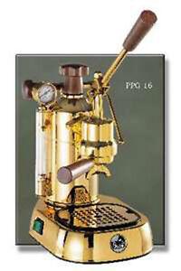 Espresso Machine Maker LaPavoni PPG16 Professional Gold
