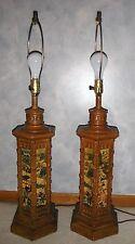 VINTAGE COLONIAL RENAISSANCE LAMPS LARGE TABLE LAMPS RARE FIND