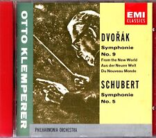 Dvorak Symphony No. 9 & Schubert Symphony No. 5 CD -Otto Klemperer (EMI)