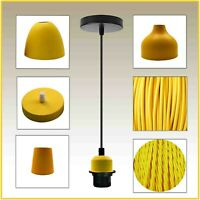 Modern 3 Core fabric cable Ceiling Rose Pendant Light Lamp Chandelier Shades UK