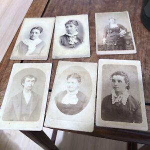 6 Rare 1860's CDV Photos Of San Antonio Texas People