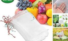 50 Pcs Netting Bags, Garden Plant Fruit Protect Drawstring Net Bag Insects Mosq