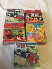 Bundle of 5, all Sorts Library Pre-school Mini Books Kids Children Pocket Story