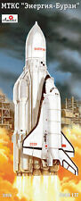 AModel 1/72 RUSSIAN ENERGIA ROCKET AND BURAN SPACE SHUTTLE