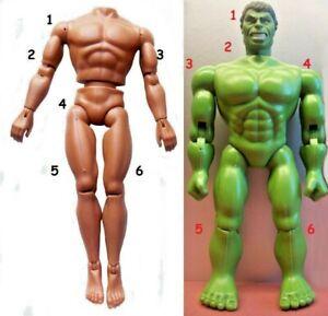 "1978 BATMAN HULK Superman BUCK ROGERS 12"" mego doll -- MUSCLE Body ARM LEG BANDS"