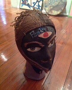 Folk Art  Outsider Sculpture   Sha Ela'ReEl  African  Head Rosenak collection
