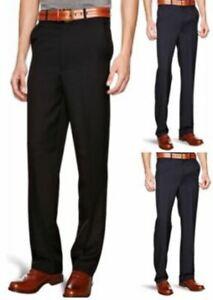 Mens Farah Classic Fit Trousers Pants Black, Navy, Charcoal Size W122 L84